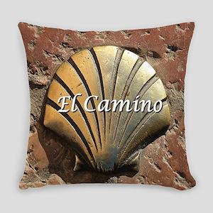 El Camino gold shell, Leon,Spain ( Everyday Pillow