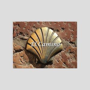 El Camino gold shell, Leon,Spain (c 5'x7'Area Rug