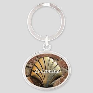 El Camino gold shell, Leon,Spain (ca Oval Keychain