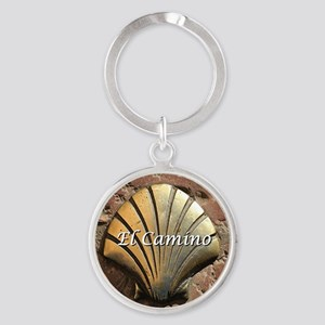 El Camino gold shell, Leon,Spain (c Round Keychain