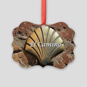 El Camino gold shell, Leon,Spain  Picture Ornament
