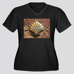 El Camino gold shell, Leon,Spain Plus Size T-Shirt