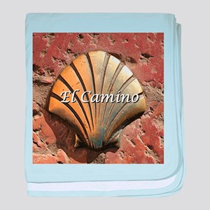 El Camino gold shell, Leon,Spain (cap baby blanket