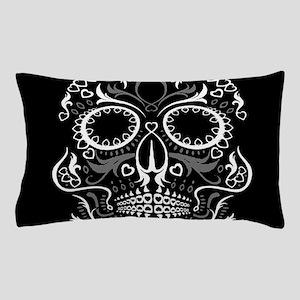 Hear Sugar Skull BLK Pillow Case