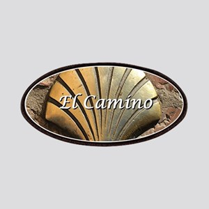 El Camino gold shell, Leon,Spain (caption) Patch
