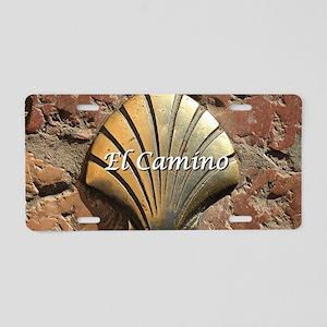 El Camino gold shell, Leon, Aluminum License Plate