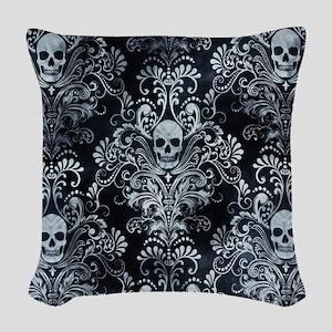 Skulls Woven Throw Pillow