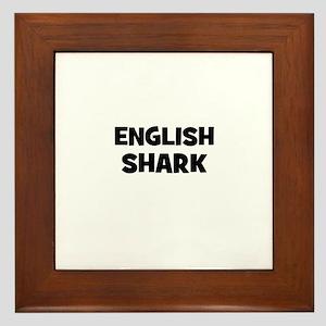 English Shark Framed Tile