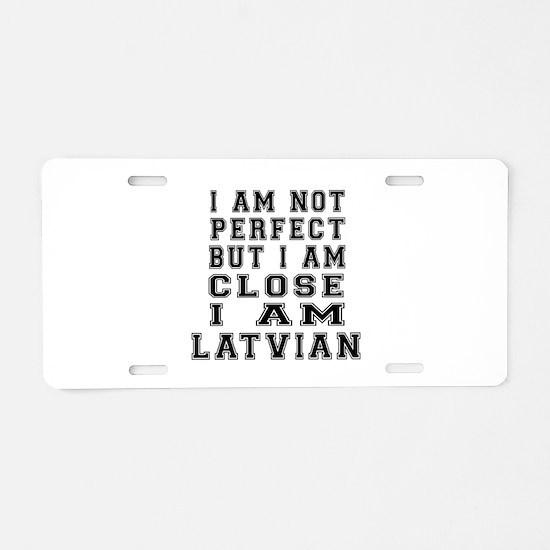 Latvian Designs Aluminum License Plate