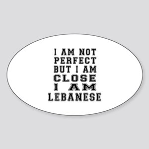 Lebanese Designs Sticker (Oval)
