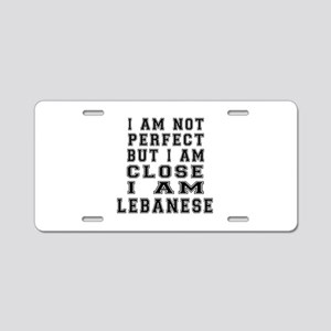 Lebanese Designs Aluminum License Plate