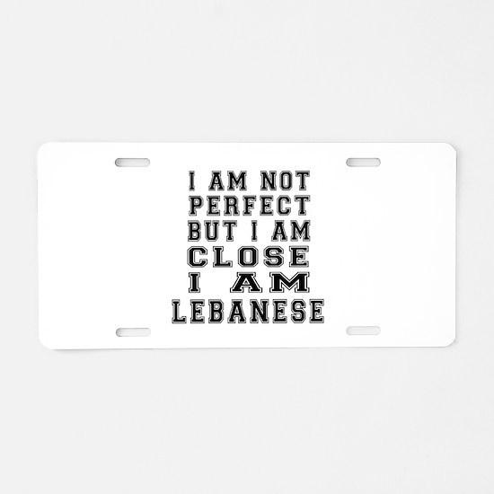 Lebanese Designs Aluminum License Plate