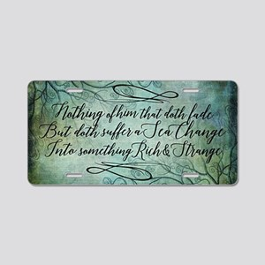 The Tempest Sea Change Aluminum License Plate