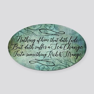 The Tempest Sea Change Oval Car Magnet