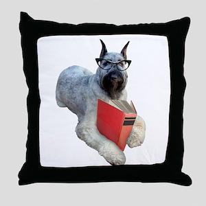Dog Book Throw Pillow