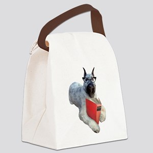 Dog Book Canvas Lunch Bag