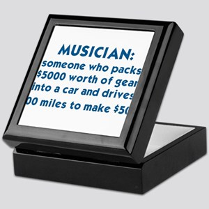 MUSICIAN: SOMEONE WHO PACKS $5000 WOR Keepsake Box