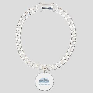 MUSICIAN: SOMEONE WHO PA Charm Bracelet, One Charm
