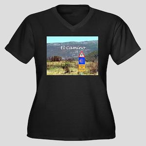 El Camino sign, Spain (caption) Plus Size T-Shirt