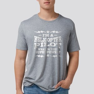 Funny Helicopter Pilot Mens Tri-blend T-Shirt