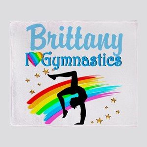 GRACEFUL GYMNAST Throw Blanket