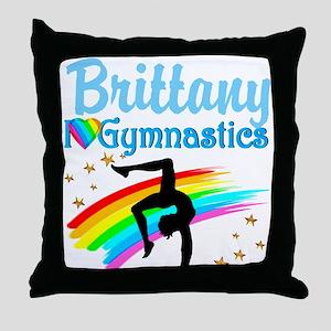 GRACEFUL GYMNAST Throw Pillow