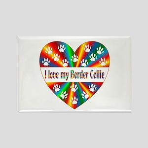 Border Collie Love Rectangle Magnet