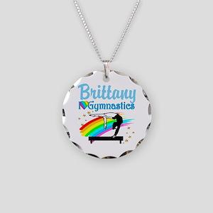 GRACEFUL GYMNAST Necklace Circle Charm