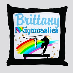 GRACEFUL GYMNAST Throw Pillow