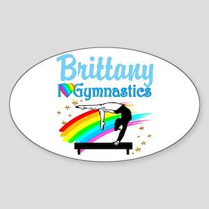 GRACEFUL GYMNAST Sticker (Oval)