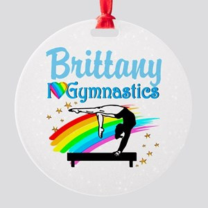 GRACEFUL GYMNAST Round Ornament