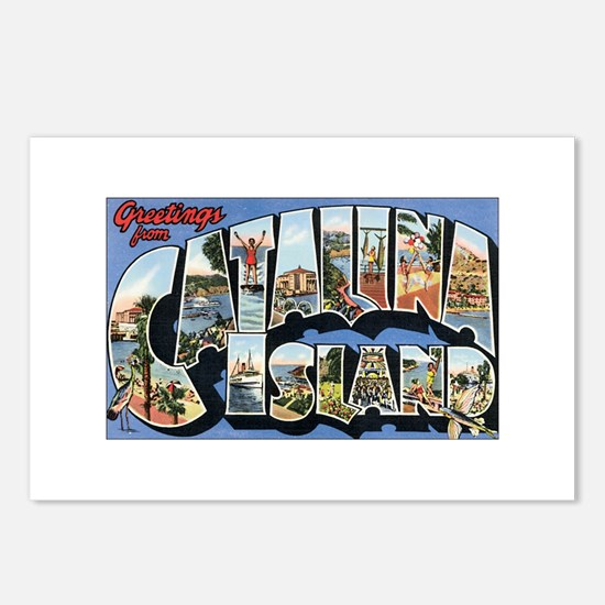 Catalina Island Postcard Postcards (Package of 8)