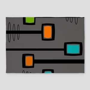 Mid-Century Abstract Art 5'x7'Area Rug