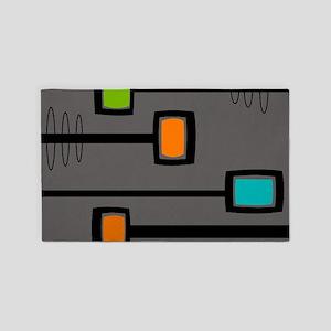 Mid-Century Abstract Art Area Rug