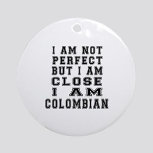 Colombian Designs Round Ornament