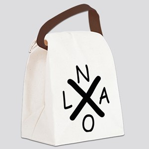 Hurrican Katrina X NOLA black fon Canvas Lunch Bag