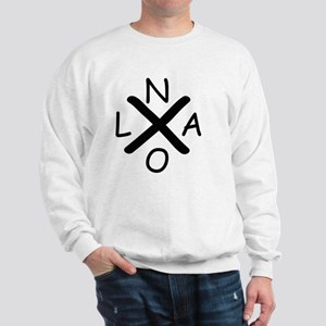 Hurrican Katrina X NOLA black font Sweatshirt