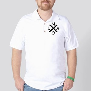 Hurrican Katrina X NOLA black font Golf Shirt