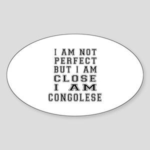 Congolese Designs Sticker (Oval)