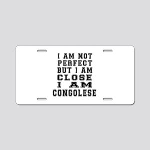 Congolese Designs Aluminum License Plate
