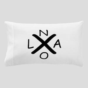 Hurrican Katrina X NOLA black font Pillow Case