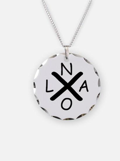 Hurrican Katrina X NOLA blac Necklace Circle Charm
