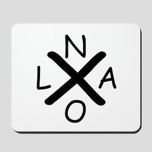Hurrican Katrina X NOLA black font Mousepad