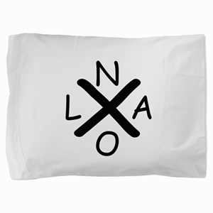 Hurrican Katrina X NOLA black font Pillow Sham