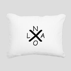 Hurrican Katrina X NOLA Rectangular Canvas Pillow