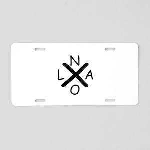 Hurrican Katrina X NOLA bla Aluminum License Plate