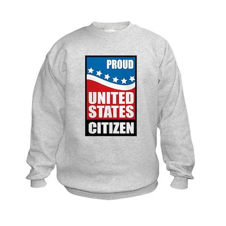 Proud U.S. Citizen Kids Sweatshirt
