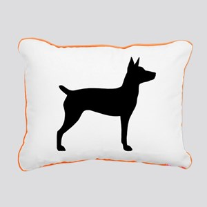 Rat Terrier Rectangular Canvas Pillow