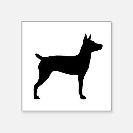 "Rat Terrier Square Sticker 3"" x 3"""
