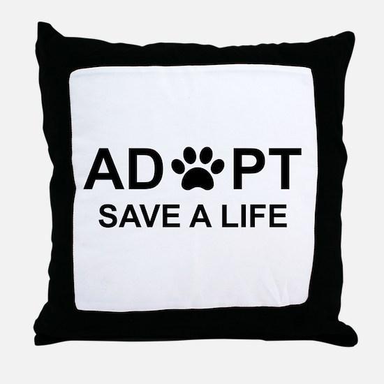 Cute Animal rescue Throw Pillow